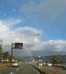 ラジオ出演前の虹